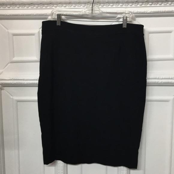 Valentino Dresses & Skirts - Valentino Virgin Wool Knee Length Black Skirt